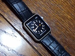 時計ベルトをBOLLE に交換したアップルウォッチ APPLE WATCH