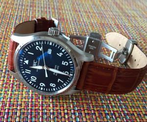 時計ベルトをBOLLEに交換したアイ・ダブリュー・シーパイロットウオッチマーク18 プティ・プランス IWC Pilot's Watch Mark XVIII Edition