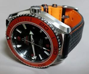 時計ベルトをBIKINGに交換したオメガプラネットオーシャン46 OMEGA Planet Ocean46