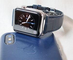時計ベルトをSOCCERに交換したアップル ウォッチ2ステンレス Apple Watch2 stainless