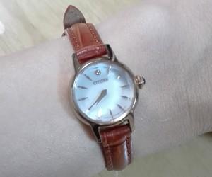 時計ベルトをDONNA CROCO(ドナ クロコダイル型押し)に交換したシチズンキー CITIZENKii
