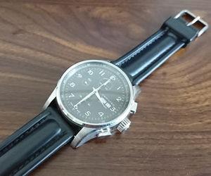 時計ベルトをCAYMANに交換したハミルトンジャズマスターマエストロ H32716833 Hamilton Jazzmaster Maestro H32716833
