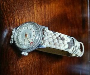 時計ベルトをモレラートのCELINEに交換したオリスビッグクラウン ポインターデイト ボーイズ ORIS Big Crown