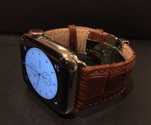 時計ベルトをBOLLEに交換したアップル ウォッチ シリーズ4 44mm Apple Watch Series4 44mm