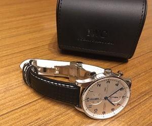 時計ベルトをBIKINGにアイダブリューシーポルトギーゼ クロノグラフ IWC portugieser chronograph