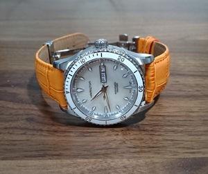 時計ベルトをSAMBAに交換したハミルトンジャズマスター シービュー Hamilton Jazzmaster Seaview