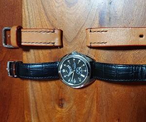 時計ベルトをBOLLEに交換したオリエントスター ソメスサドル コラボレーションモデル(Orient Star SOMES Collaboration Model)