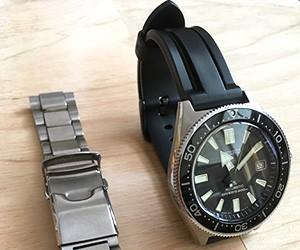 時計ベルトをMARINERに交換したセイコーPROSPEX SBDCO51