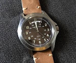 時計ベルトをGRENOBLEに交換したハミルトンカーキフィールド HAMILTON Khaki Field