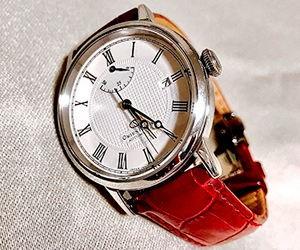時計ベルトをSAMBAに交換したオリエントスターエレガントクラシック