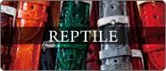高級感溢れる爬虫類時計ベルト レプタイル