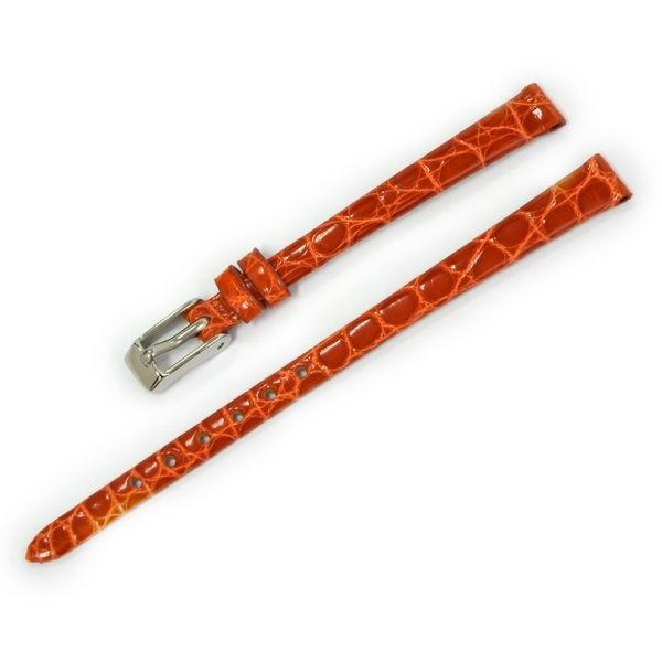 腕時計ベルト バンド レディース 交換 ワニ革 16mm 15mm 14mm 13mm CASSIS RIOM shiny D0000B68|mano-a-mano|24