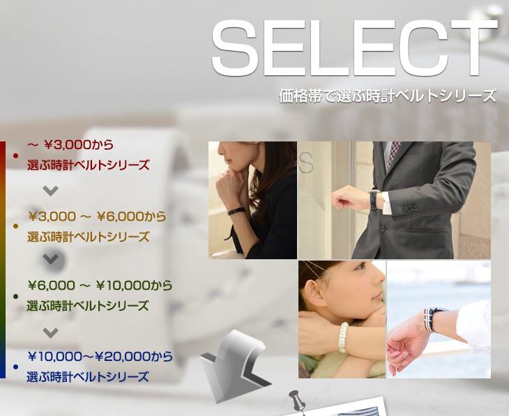 価格帯で選ぶ時計ベルトシリーズ