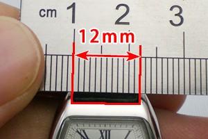 時計のラグ幅を測る