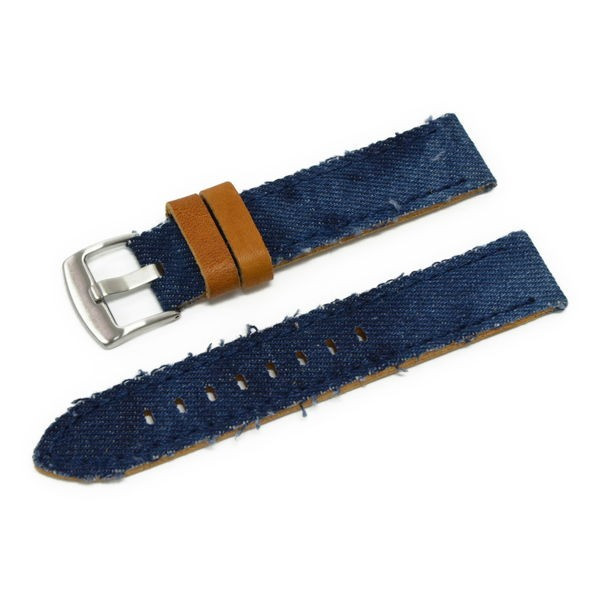 時計 ベルト 腕時計ベルト バンド  デニム CASSIS カシス NAPA ナパ  u1030600 20mm 22mm 24mm|mano-a-mano|14