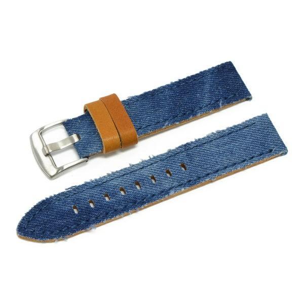 時計 ベルト 腕時計ベルト バンド  デニム CASSIS カシス NAPA ナパ  u1030600 20mm 22mm 24mm|mano-a-mano|15