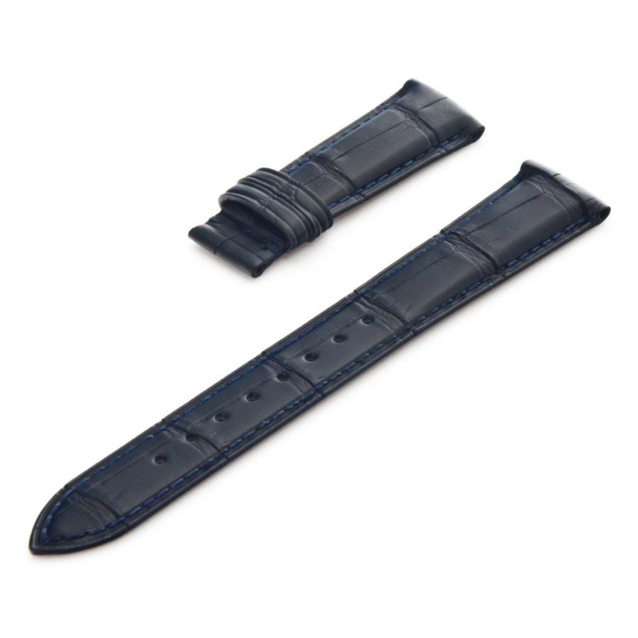 腕時計ベルト バンド 交換 ワニ革 アリゲーター メンズ 20mm 19mm CASSIS ADONARA D U1122A70|mano-a-mano|20