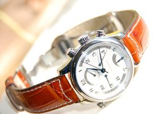 時計ベルトバックルをモレラートのDEPLOJANTE/PBに交換したロンジンマスターコレクションレトログラ