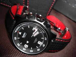 時計ベルトをモレラートのバイキングに交換したKentex LANDMAN★Auto Limited Edition(S678M-03)