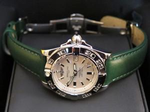 時計ベルトをモレラートのグラフィックに交換したブライトリング・ギャラクティック32