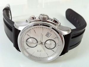 時計ベルトをモレラートのマリナーに交換したジャズマスターオートクロノH3261655