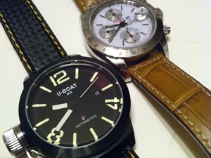 時計ベルトをモレラートのバイキングに交換したU-BOAT classico