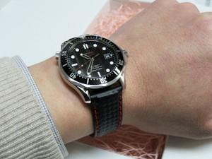 時計ベルトをモレラートのバイキングに交換したオメガシーマスター