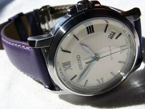 時計ベルトをモレラートのグラフィックに交換したSEIKO SNM001K1(海外モデル)