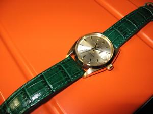 時計ベルトをモレラートのルイジアナに交換したロレックス1968年14KYG