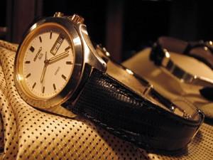 時計ベルトをモレラートのボルテラに交換したセイコースピリットAGS