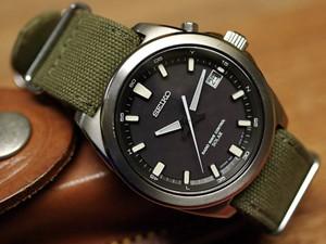 時計ベルトをモレラートのジャンプに交換したSEIKO SPIRIT
