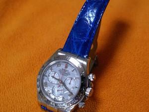 時計ベルトをモレラートのティポ ロレックス オイスターに交換したROLEX デイトナメテオライト
