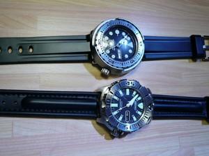 時計ベルトをモレラートのCAYMANとMARINERに交換したSEIKO SBBN017とSEKO SKX779K3