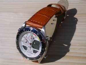 時計ベルトをモレラートのボーレに交換したシチズンプロマスターナビサーフC320