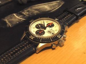 時計ベルトをモレラートのカラテに交換したSinn 156.B (Sony Family Club Inc. Limited-edition)