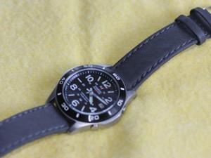 時計ベルトをモレラートのABETEに交換したCASIO オーバーランド(OVW-110DJ-1AJF )