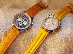時計ベルトをモレラートのSPEEDとBOTEROに交換したブライトリング:コスモノートとブライトリング:クロノマット