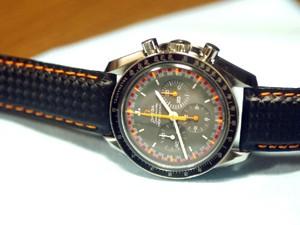 時計ベルトをモレラートのバイキングに交換したスピードマスター・プロフェッショナル