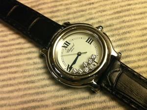 時計ベルトをモレラートのボーレに交換したショパールハッピースポーツ