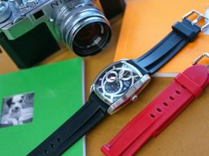 時計ベルトをモレラートのマリナーに交換したオリエントオートマチック'06インホルゲンタモデル