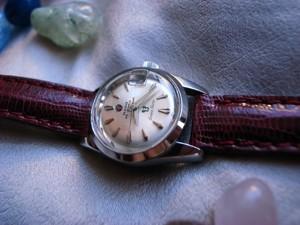 時計ベルトをモレラートのボルテラに交換したRADO Green Horse