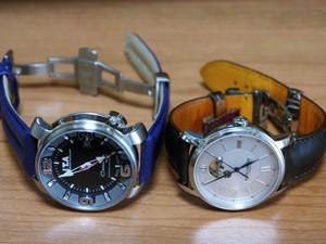 時計ベルトをモレラートのSPEEDに交換したI.T.A. Casanova SPORTとBAUME&MERCIER CLASSIMA EXECUTIVES Ref.8688