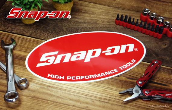 Snap-on スナップオン アメリカンステッカー オーバルロゴ・レッド 001-アメカジとアメリカ雑貨のMarble Marble(マーブルマーブル)