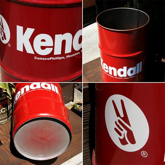 アメリカ雑貨 ユーズド1点物 KENDALL ・ケンドル アンティークドラム缶 A ホワイトロゴ-アメリカン雑貨・アメリカ雑貨ショップ Marble Marble(マーブルマーブル)