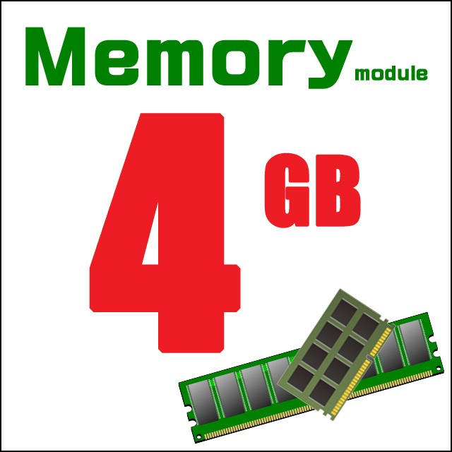 メモリ 4ギガ搭載 メモリ容量の余裕がそのままサクサク動作のポイントに!!