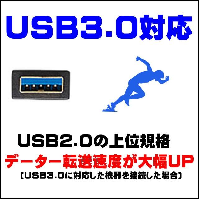 インタフェース★USB3.0対応。USB2.0の上位規格!!データの転送速度が超スピードアップ!!!