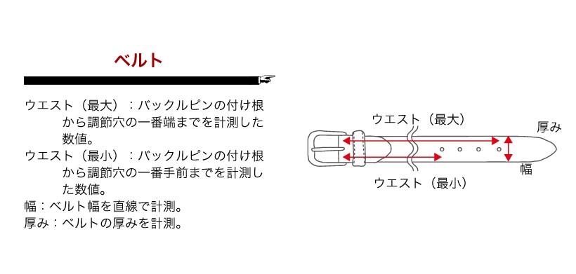 サイズの測定方法(ベルト)