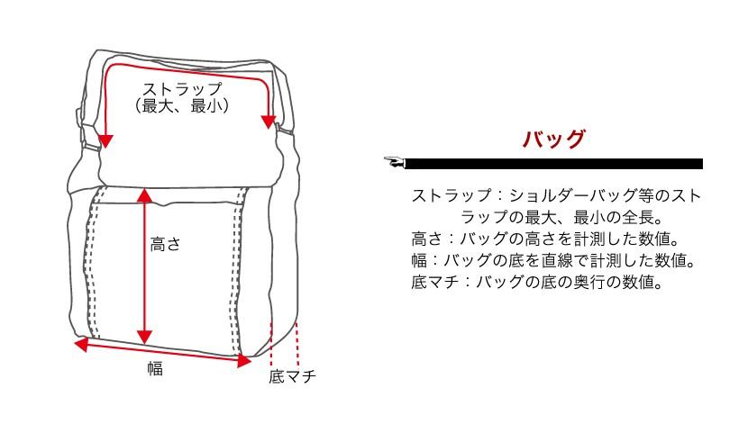 サイズの測定方法(バッグ)