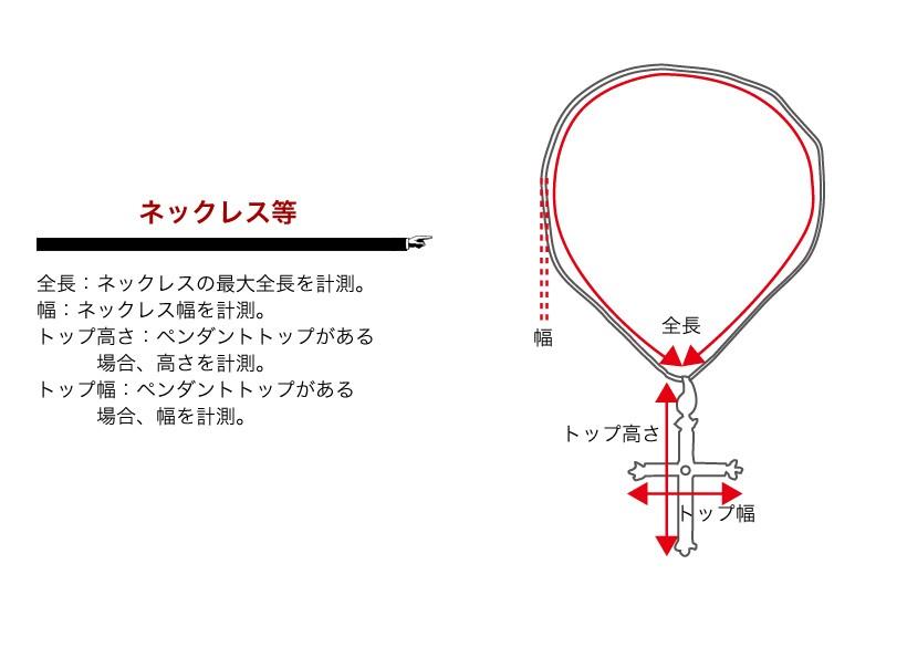 サイズの測定方法(ネックレス等)