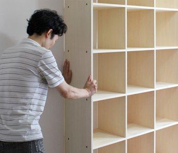 壁一面のレコード棚